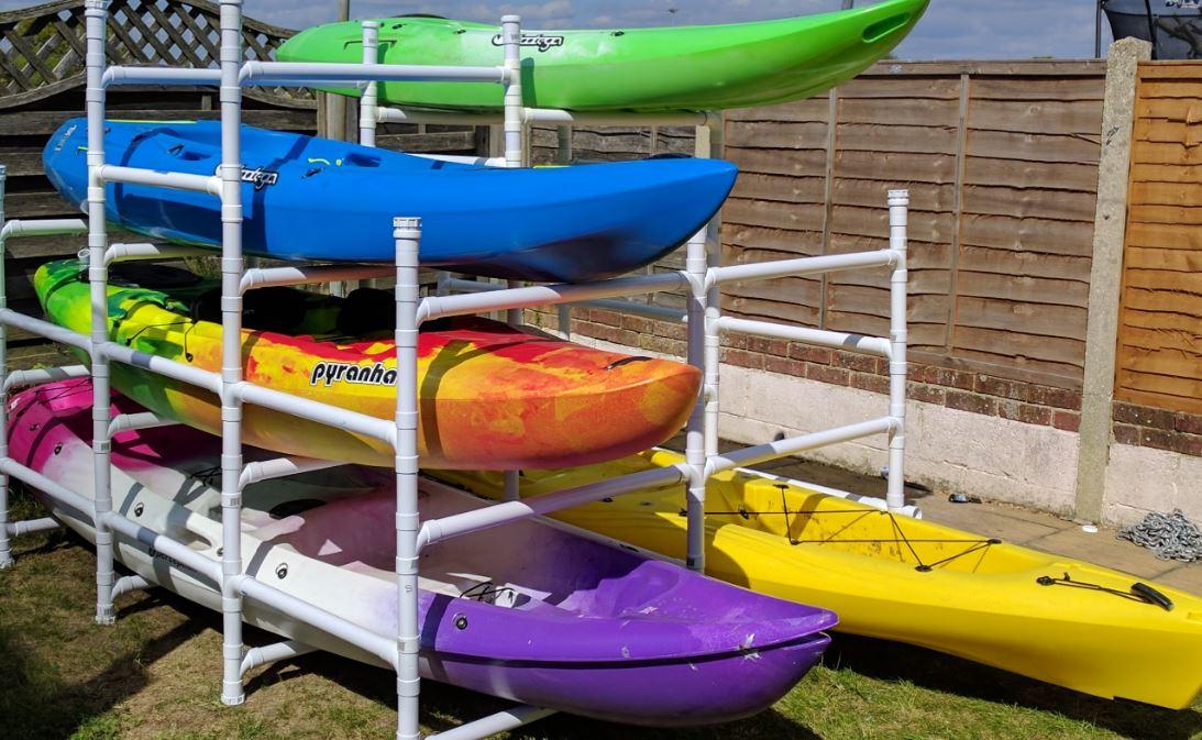 diy kayak storage ideas