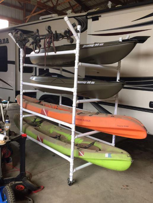 kayak storage rack ideas pvc