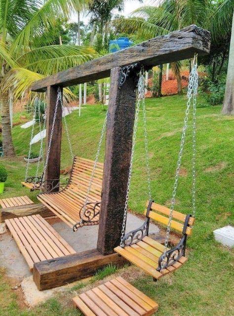 15+ DIY Swing Set Designs that Packs Lots of Fun ...